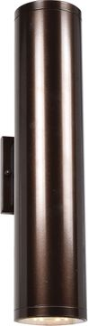 Access 20035LEDMG-BRZ-FST Sandpiper Contemporary Bronze LED Exterior Medium Wall Lighting Sconce