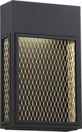 Access 20063LEDDMG-BL-GLD Metro Contemporary Black and Gold LED Outdoor Wall Mounted Lamp
