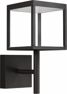 Access 20080LED-BL-CLR Reveal Contemporary Black LED Exterior Lighting Sconce
