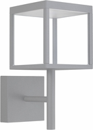 Access 20080LED-SG-CLR Reveal Modern Satin Gray LED Outdoor Lamp Sconce