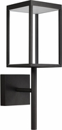 Access 20081LED-BL-CLR Reveal Contemporary Black LED Exterior Wall Sconce Lighting