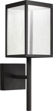 Access 20081LED-BL-SDG Reveal Modern Black LED Exterior Wall Light Sconce