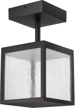 Access 20084LED-BL-SDG Reveal Modern Black LED Exterior Ceiling Lighting