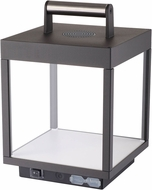 Access 20086LEDD-BL-CLR Reveal Contemporary Black LED Exterior Portable Lantern w/ Bluetooth Speaker