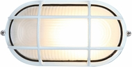 Access 20290LEDDLP-WH-FST Nauticus Contemporary White LED Outdoor Bulkhead Wall Light Sconce