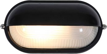Access 20291-BL-FST Nauticus Contemporary Black Outdoor Bulkhead Lighting Wall Sconce