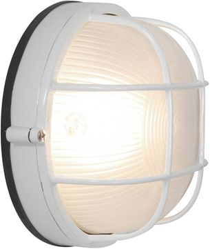 Access 20296LEDDLP-WH-FST Nauticus Contemporary White LED Exterior Bulkhead Lighting Wall Sconce