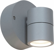 Access 20350LEDDMGLP-SAT-CLR KO Contemporary Satin LED Outdoor Wall Sconce Light