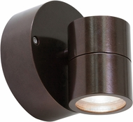 Access 20350MG-BRZ-CLR KO Contemporary Bronze Halogen Exterior Wall Light Sconce