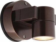 Access 20351LEDDMGLP-BRZ-CLR KO Modern Bronze LED Outdoor Wall Lamp