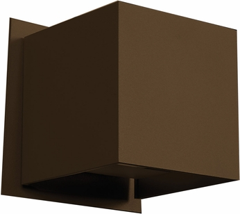 Access 20399LED-BRZ Square Modern Bronze & Bronze Metal LED Exterior Wall Sconce Lighting