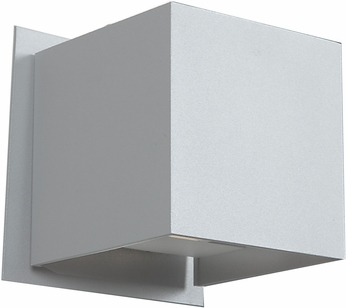 Access 20399LED-SAT Square Contemporary Satin & Satin Metal LED Outdoor Wall Mounted Lamp