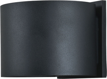 Access 20399LEDMGRND-BL Curve Contemporary Marine Grade Black LED Outdoor Lighting Wall Sconce