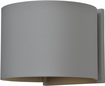 Access 20399LEDMGRND-SAT Curve Contemporary Marine Grade Satin Nickel LED Outdoor Wall Sconce Lighting