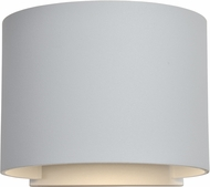 Access 20399LEDMGRND-WH Curve Modern Marine Grade White LED Exterior Wall Mounted Lamp