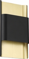 Access 20407LEDD-BL-GLD Beacon Modern Black and Gold LED Light Sconce