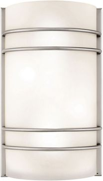 Access 20416LEDDLP-BS-OPL Artemis Contemporary Brushed Steel LED Wall Mounted Lamp