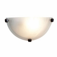 Access 20417-ORB Mona Alabaster Glass 6 Inch Tall Wall Light - Oil Rubbed Bronze