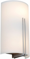 Access 20446LEDSWAD-BS-WHT Prong Contemporary Brushed Steel LED Sconce Lighting
