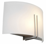 Access 20447-BS Prong�Brushed Steel 12 Inch Wide Contemporary Exterior Sconce