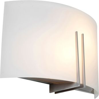 Access 20447LEDDLP-BS-WHT Prong Contemporary Brushed Steel LED Sconce Lighting
