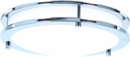 Access 20466LEDD-CH-ACR Solero Contemporary Chrome LED 18  Flush Mount Lighting