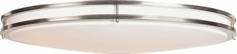 Access 20468LEDD-BS-ACR Solero Oval Brushed Steel LED 32.5  Ceiling Lighting