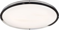 Access 20468LEDD-CH-ACR Solero Oval Modern Chrome LED Flush Mount Lighting Fixture