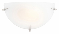 Access 20660 Zenon 12 Inch Wide Brushed Steel Finish Sconce Light