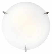 Access 20661 Zenon Small Brushed Steel Finish 12 Inch Wide Ceiling Light Fixture