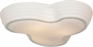 Access 20688LEDD-CH-OPL Pebble Contemporary Chrome & Opal Abstract Glass LED Flush Lighting