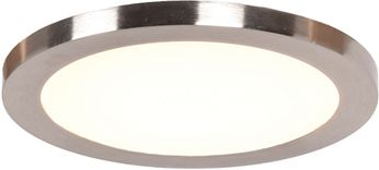 Access 20812LEDD-BS-ACR Disc Contemporary Brushed Steel LED 9.5  Overhead Light Fixture
