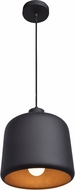 Access 23778LEDDLP-MBL-MGL Nostalgia Modern Matte Black LED Mini Pendant Light Fixture
