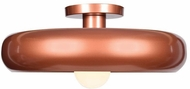 Access 23880LEDDLP-CP-GLD Bistro Modern Copper and Gold LED 16  Flush Mount Lighting Fixture