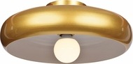 Access 23880LEDDLP-GLD-WHT Bistro Contemporary Gold and White LED 16  Flush Ceiling Light Fixture