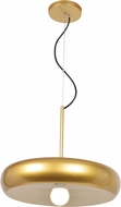 Access 23882LEDDLP-GLD-WHT Bistro Contemporary Gold and White LED 16  Lighting Pendant
