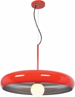 Access 23883LEDDLP-RED-SILV Bistro Contemporary Red and Silver LED 24  Hanging Pendant Lighting