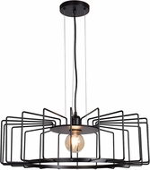 Access 23890LEDDLP-BL Wired Modern Black LED Hanging Pendant Light
