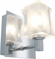 Access 23916-CH/FCL Glase Chrome Wall Sconce Light