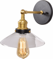 Access 24000-BGL/CLR The District Contemporary Black and Gold LED Light Sconce