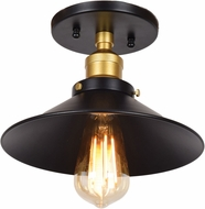Access 24002LEDDLP-BGL The District Contemporary Black and Gold LED Flush Mount Lighting