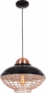 Access 24882LEDDLP-SBL-CP Dive Contemporary Shiny Black and Copper LED Ceiling Pendant Light