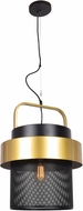 Access 24883LEDDLP-BGL Fusion Modern Black and Gold LED Drop Ceiling Light Fixture