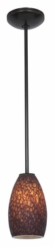 Access 28012-1R-ORB/BRST Janine�Rod Hanging Brown Stone Glass Bronze Finish Hanging Lamp