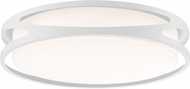 Access 49991LEDD-WH-ACR Lucia Modern White LED 18  Flush Lighting