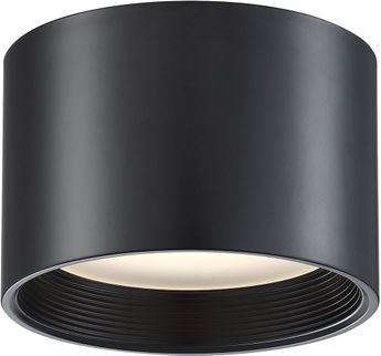 Access 50007LEDD-BL-ACR Reel Modern Black LED 8  Flush Mount Ceiling Light Fixture