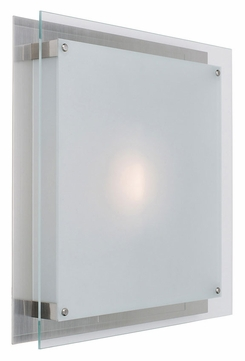 Access 50031 Vision 11 Inch Wide Brushed Steel Contemporary Lamp Sconce