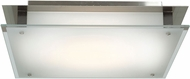 Access 50032-BS-FST Vision Contemporary Brushed Steel Halogen 16  Flush Mount Lighting