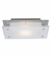 Access 50033 Vision Brushed Steel 11 Inch Wide Ceiling Or Wall Light Fixture