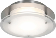 Access 50036LEDD-BS-FST Vision Round Modern Brushed Steel LED 10  Flush Mount Light Fixture